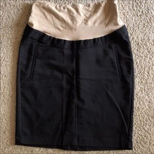 H&M Mama Black Maternity Skirt Size 10 Over Belly